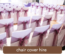 See our Chair Cover Hire Packages